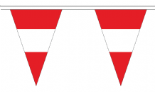 Austria Federal Triangular Flag Bunting - 20m Long - 54 Flags